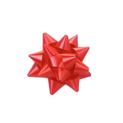 Mini Star Bows - 5cm - Red