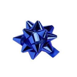 Mini Star Bows - 5cm - Metallic Blue