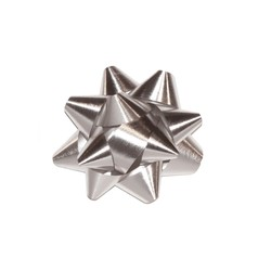 Mini Star Bows - 5cm - Metallic Silver