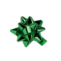 Mini Star Bows - 5cm - Metallic Emerald Green