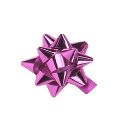 Mini Star Bows - 5cm - Metallic Light Pink