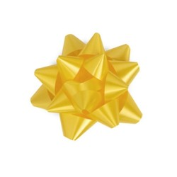 Star Gift Bows - 6.5cm - Yellow