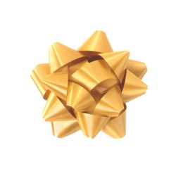 Star Gift Bows - 6.5cm - Gold