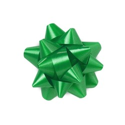 Star Gift Bows - 6.5cm - Emerald Green