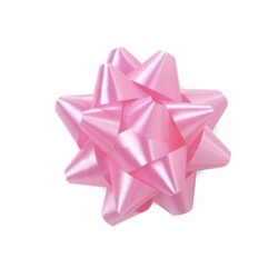 Star Gift Bows - 6.5cm - Light Pink
