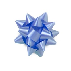 Star Gift Bows - 6.5cm - Light Blue