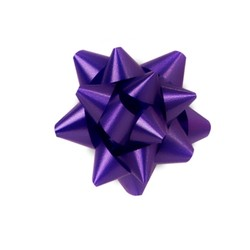 Star Gift Bows - 6.5cm - Violet Purple