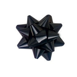 Star Gift Bows - 6.5cm - Black