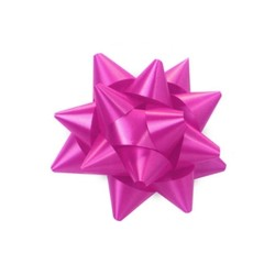 Star Gift Bows - 6.5cm - Hot Pink