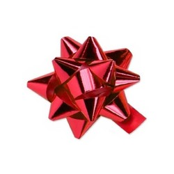 Star Bows - 6.5cm - Metallic Red