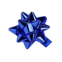 Star Bows - 6.5cm - Metallic Blue
