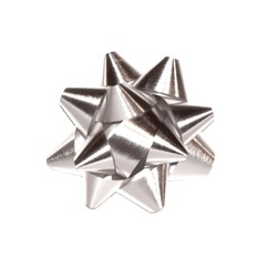 Star Bows - 6.5cm - Metallic Silver