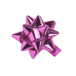 Star Bows - 6.5cm - Metallic Light Pink