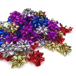 Star Bows - 6.5cm - Metallic Assorted Colours