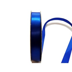 Satin Ribbon - Woven Edge -15mm x 30m - Royal Blue