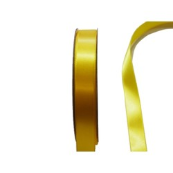 Satin Ribbon - Woven Edge -15mm x 30m - Yellow