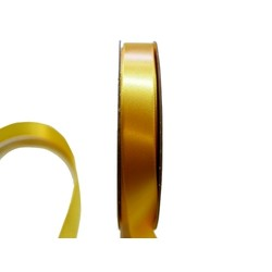 Satin Ribbon - Woven Edge -15mm x 30m - Gold