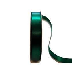 Satin Ribbon - Woven Edge -15mm x 30m - Emerald