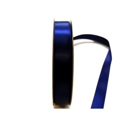 Satin Ribbon - Woven Edge -15mm x 30m - Navy