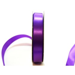 Satin Ribbon - Woven Edge -15mm x 30m - Violet