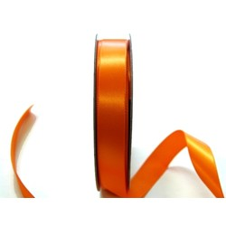 Satin Ribbon - Woven Edge -15mm x 30m - Orange
