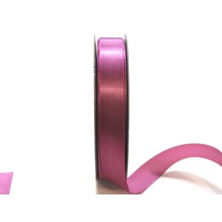 Satin Ribbon - Woven Edge -15mm x 30m - Dusty Rose