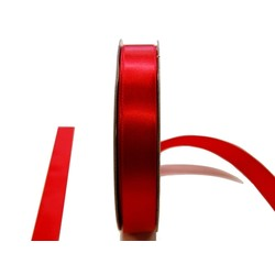 Satin Ribbon - Woven Edge -15mm x 30m - Red