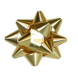 Star Gift Bows - 9cm - Metallic Gold