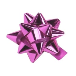 Star Gift Bows - 9cm - Metallic Light Pink