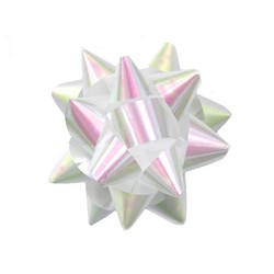 Star Gift Bows - 9cm - Pearl White