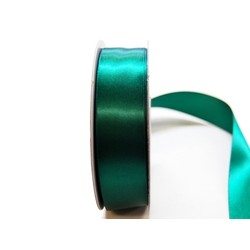 Satin Ribbon - Woven Edge -25mm x 30m - Emerald