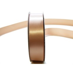 Satin Ribbon - Woven Edge -25mm x 30m - Champagne