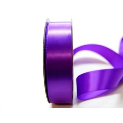 Satin Ribbon - Woven Edge -25mm x 30m - Violet