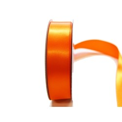 Satin Ribbon - Woven Edge -25mm x 30m - Orange