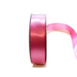 Satin Ribbon - Woven Edge -25mm x 30m - Dusty Rose