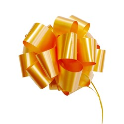 12 x Pull String Pom Pom Bow - Gold