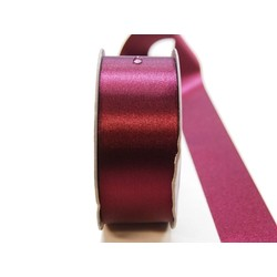 Water Repellent Satin Ribbon - 38mm x 45m - Burgundy