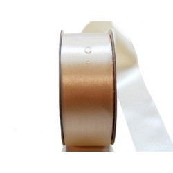 Water Repellent Satin Ribbon - 38mm x 45m - Cream