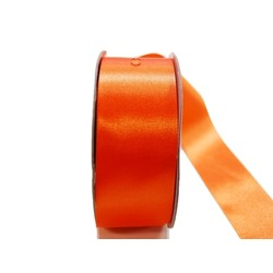 Water Repellent Satin Ribbon - 38mm x 45m - Orange