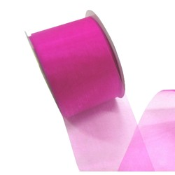Sheer Organza Cut Edge Ribbon - 50mm x 25m - Rosebloom