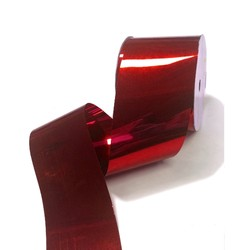 Metallic PVC Ribbon - 50mm x 30M - Red