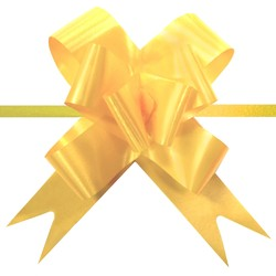 Pull String Butterfly Bows - Yellow