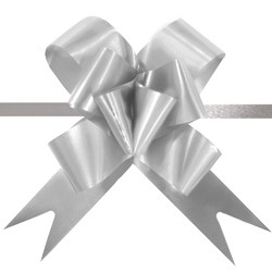 Pull String Butterfly Bows - Silver