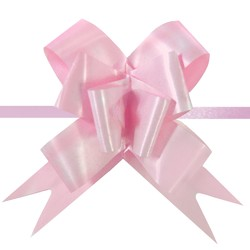 Pull String Butterfly Bows - Light Pink