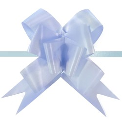 Pull String Butterfly Bows - Light Blue