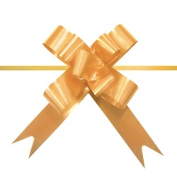 Pull String Butterfly Bows -  Mini - Gold