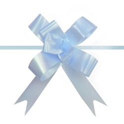 Pull String Butterfly Bows -  Mini - Light Blue