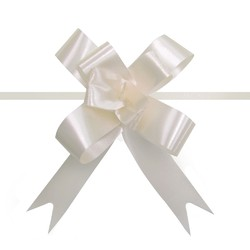 Pull String Butterfly Bows -  Mini - Ivory