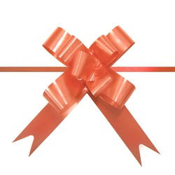 Pull String Butterfly Bows -  Mini - Orange