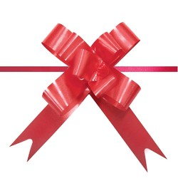 Pull String Butterfly Bows -  Mini - Red